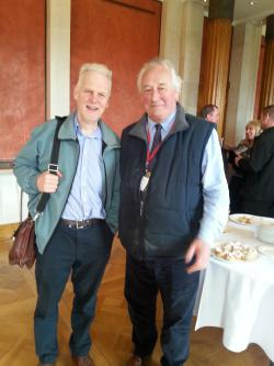 Peter Smith meets Ollan Herr of Reed Beds Ireland at Smart Eco Hub event
