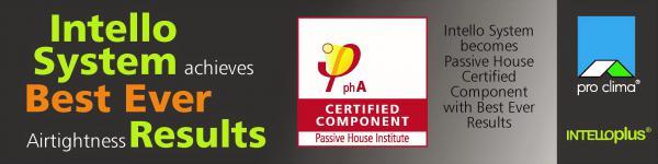 INTELLO system achieves Passivhaus Certification