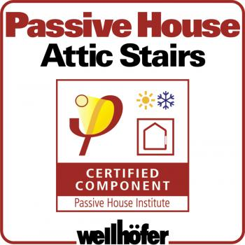 Wellhofer Passive house attic stairs - certified component
