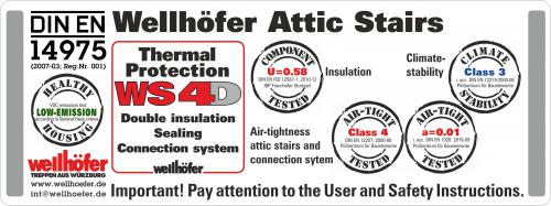 Wellhofer Airtight Attic hatch