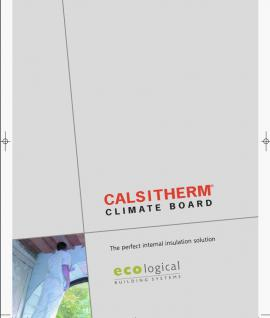 Calsitherm Climate Board Product Brochure