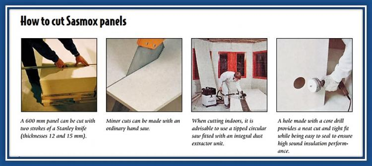 How to Cut Sasmox panels