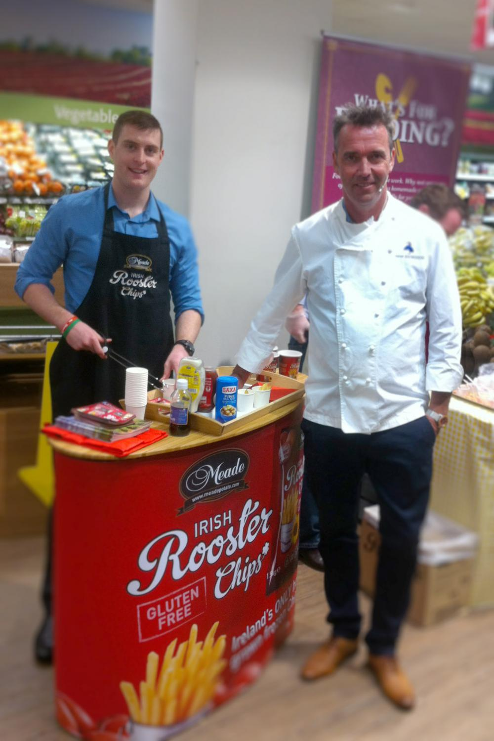 Kevin Dundon at a tasting - another fan!