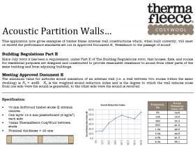 Thermafleece cosywool acoustic partition walls