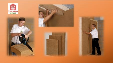 Thermo Hemp natural insulation - range of applications