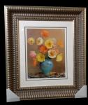 Classically framed floral print