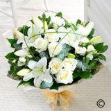 Wonderfully White Hand-tied Bouquet Large Size