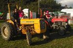 Penny McGowan and Des Fitzgerald (front) with Eoin Sharkey and Geraldine Gaughran (red tractor)