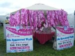 Pink Ribbon Walk tent at Moynalty Steam Threashing