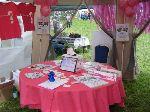 Pink Ribbon Walk tent at Moynalty