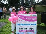 Pink Ribbon Walk committee members Penny McGowan, Emer Taaffe and Linda Higgins at Moynalty