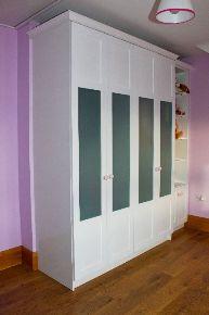 Spray painted wardrobe
