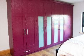 Spray painted Oak Wardrobe