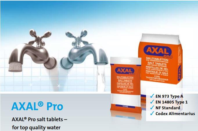 axal pro salt water softening tablets