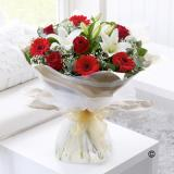Red & White Hand-tied