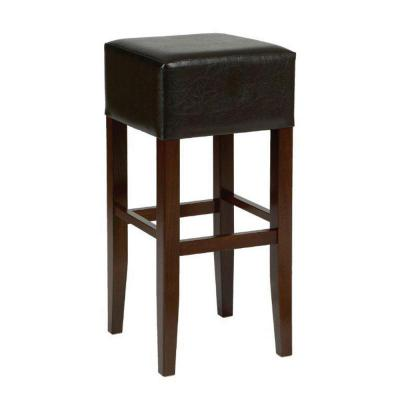 Clarke High Stool Uph Brown Faux Leather