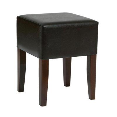 Clarke Low Stool Uph Brown Faux Leather