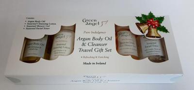 Green Angel Argan Body Oil & Cleanser Travel Set