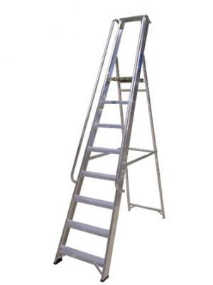 Aluminium Stepladder with handrails