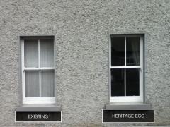 Original Sash Window & New Heritage Eco Sash Window