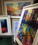 Selection of framed prints on canvas
