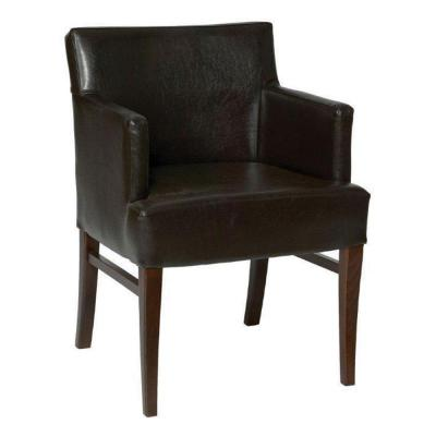 Jane Armchair Uph Brown Faux Leather