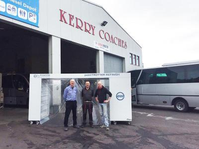 Installation of the Lagos Paint Trotter at Kerry Coaches - October 2016
