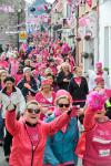 Pink Ribbon Walkers Kinsale having some fun..