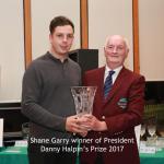 President Danny Halpin's Prize winner Shane Garry