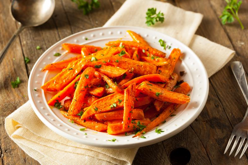 Roasted Maple Glazed Carrots