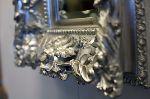 Silver Ornate Mirror Frame