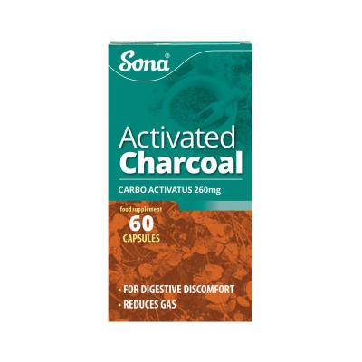 Sona Activated Charcoal Capsules - 60's