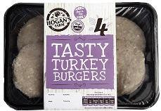 4 Tasty Turkey Burgers ( plain)