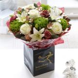 Large Christmas Rose & Lily  Hand-tied