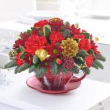 Classic Christmas Teacup Arrangement